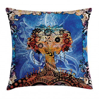 Indie Sketch Retro Style Pillow Cover