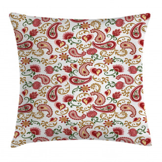 Style Rose Motif Pillow Cover
