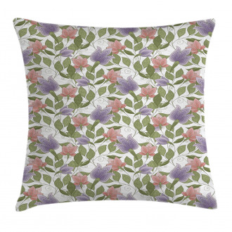 Pastel Tulip Flowers Pillow Cover