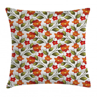 Boho Herbs Lily Nature Pillow Cover