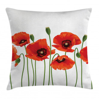 Pastoral Flowers Botany Pillow Cover