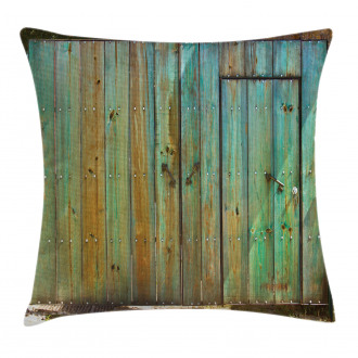 Rustic Old Wooden Gate Pillow Cover
