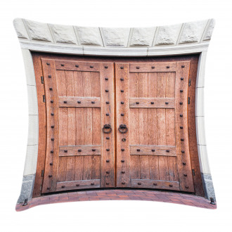 Antique French Wood Door Pillow Cover