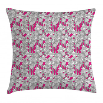 Retro Flower Leaf Petals Pillow Cover