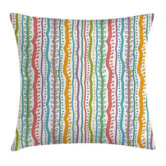 Vertical Swirl Lines Pillow Cover