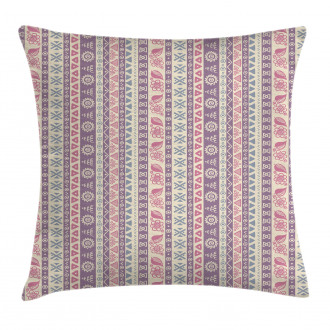 Ancient Floral Leaves Pillow Cover