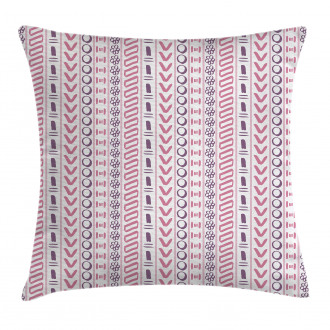 Ancient Flowers Circles Pillow Cover