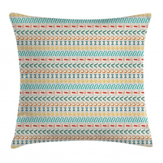 Boho Striped Motif Art Pillow Cover