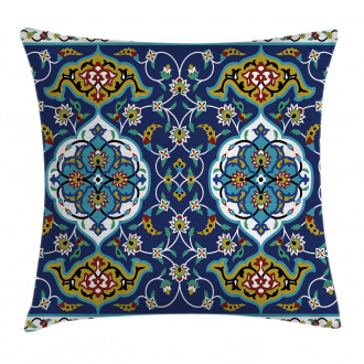 Oriental Tile Effects Pillow Cover