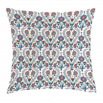 Old Floral Leaf Ornament Pillow Cover