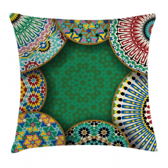 Oriental Hippie Motif Pillow Cover