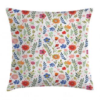 Soft Colored Floret Pillow Cover