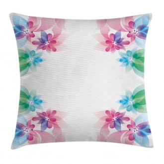Digital Bridal Flowers Pillow Cover
