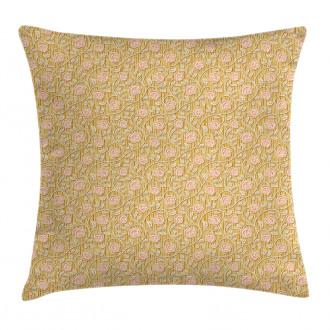 Romantic Rose Petal Pillow Cover
