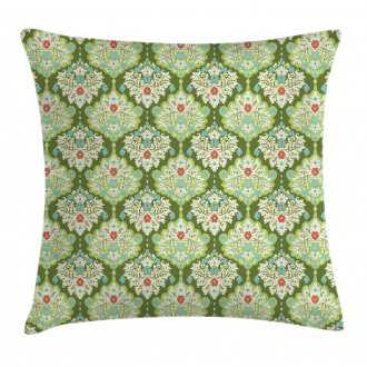 Baroque Floral Figure Pillow Cover