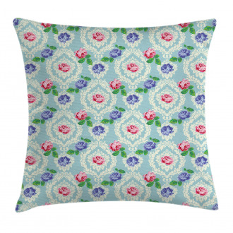 Baroque Colored Roses Pillow Cover