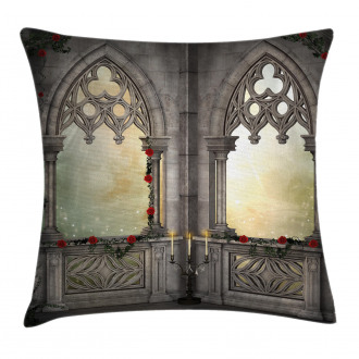 Oriental Rose and Flower Pillow Cover