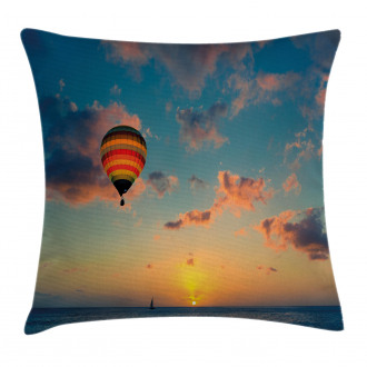 Skyline Horizon at Sea Pillow Cover