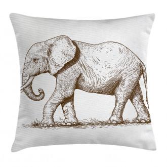 Safari Wild Animals Art Pillow Cover