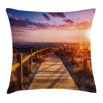 Sunset in Nature Park Pillow Cover