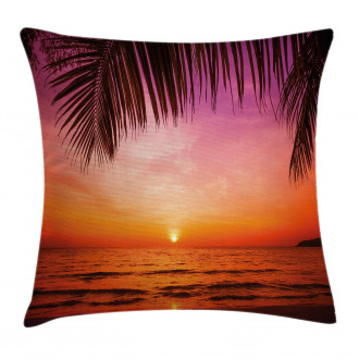 Coconut Palm Tree Leaf Pillow Cover