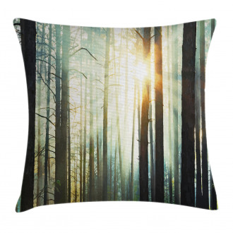 Fairy Foggy Forest Woods Pillow Cover