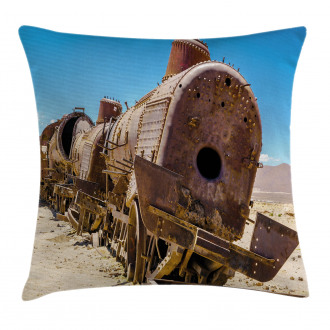Steam Train Locomotive Pillow Cover
