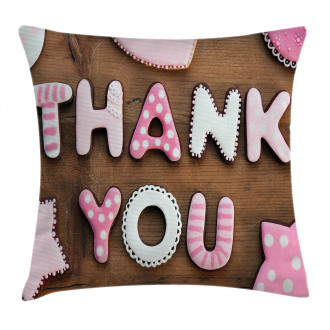 Rustic Cookie Letters Pillow Cover