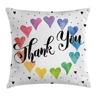 Thank You Quote Color Pillow Cover