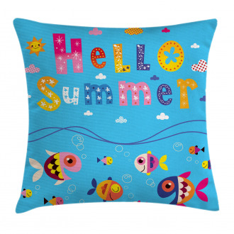 Patchwork Style and Quote Pillow Cover