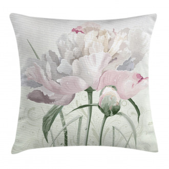 Pink Rose Tulip Abstract Pillow Cover