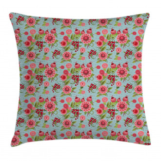 Oriental Bud Leaf Pillow Cover