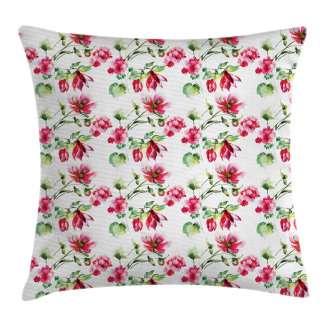 Shabby Chic Roses Tulips Pillow Cover