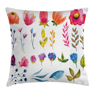 Watercolor Garden Design Pillow Cover