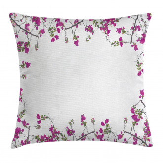 Leaves Buds and Branches Pillow Cover
