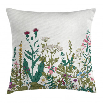 Spring Garden Hydrangeas Pillow Cover