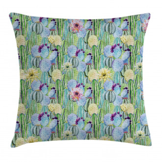 Cactus Buds Types Pattern Pillow Cover