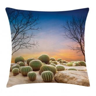 Cactus Balls on Mountain Pillow Cover