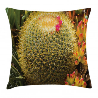 Cactus Plant with Spikes Pillow Cover