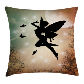 Fairy and Butterfly Wing Pillow Cover