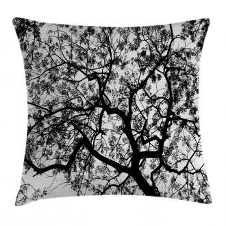 Spooky Black Tree Branch Pillow Cover
