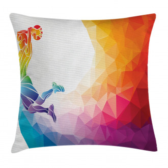 Basketball Player Jumps Pillow Cover