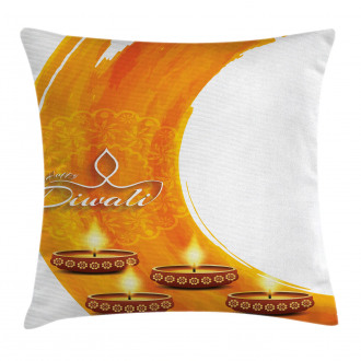 Diwali Candle Celebrate Pillow Cover