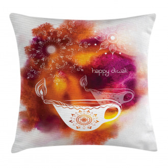 Brushstroke Festive Candle Pillow Cover