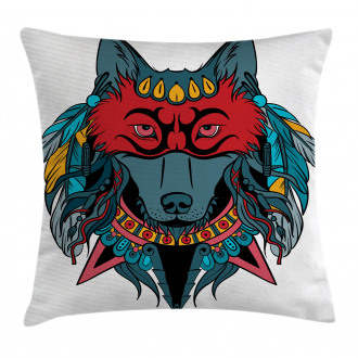Wolf Animal Theme Pillow Cover