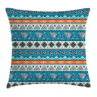 Floral Aztec Art Pattern Pillow Cover