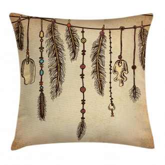 Bohemian Feathers Pillow Cover