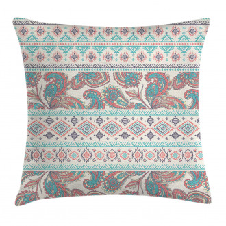 Floral Paisley and Aztec Pillow Cover