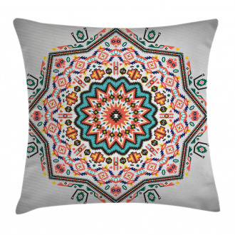 Abstract Sun Aztec Style Pillow Cover