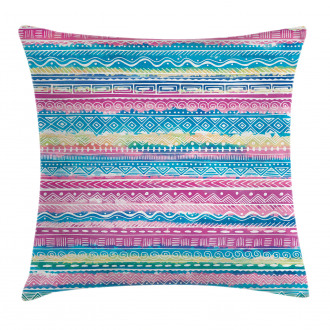 Watercolor Aztec Stripes Pillow Cover